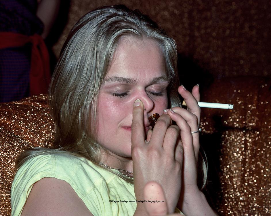 Party goer at Studio 54, New York, NY