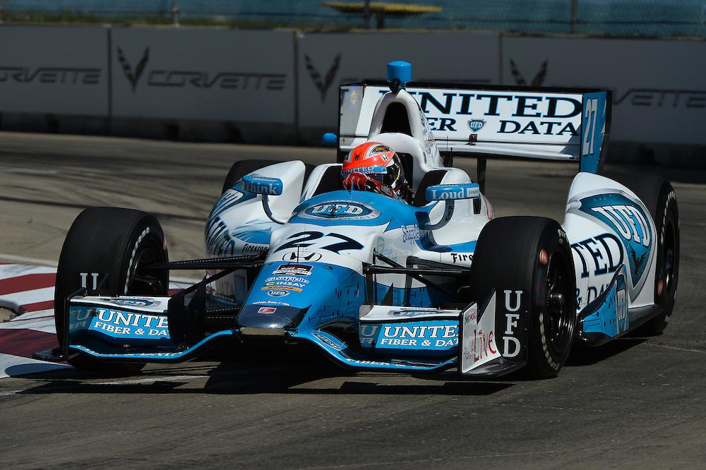 James Hinchcliffe, The Raceway at Belle Isle Park, Detroit, MI USA 6/1/2014