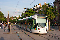 Tram in Paris France in Spring time of May 2008