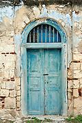 Sri Lanka. Door of a Catholic Church on the island of Kayts. Jaffna Peninsula. 2011