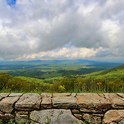 &quot;Lookin Over the Blues&quot;<br /> <br /> Wonderful scenic view of the Blue Ridge Mountains from the stone walls on Skyline Drive!!<br /> <br /> The Blue Ridge Mountains by Rachel Cohen