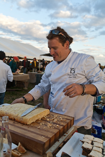 Chef Jason Inniss at the McVean Incubator Farm Feast, October 5, 2008