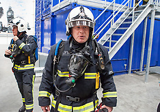 JUN 09 2014 Boris Johnson opens  London Fire Brigade  Training Centre