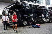 EINDHOVEN - Feyenoord - Southampton FC , Voetbal , Voorbereiding , Oefenwedstrijd , Seizoen 2015/2016 , Stadion de Kuip , 23-07-2015 , Southampton speler Graziano Pelle komt aan met de bus van Southampton bij de Kuip