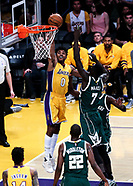 Basketball: 20170317 Los Angeles Lakers vs Milwaukee Bucks