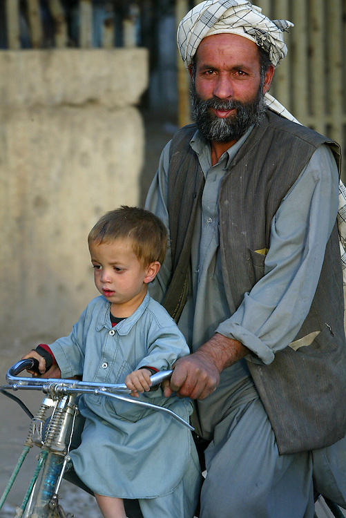 Father and child, Kabul, Afghanistan.<br />