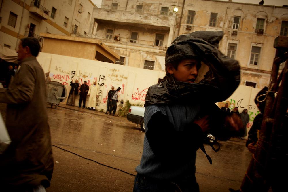 Benghazi, Libya, 04.03.11..Streetscene from Benghazi...Photo by: Eivind H. Natvig/MOMENT