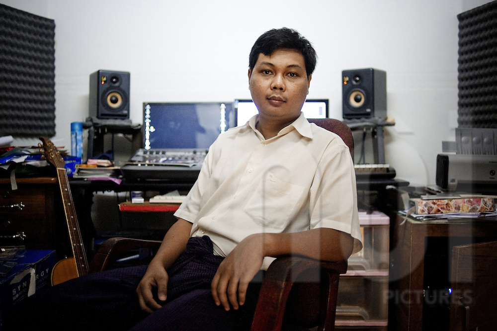 Ko Gyi Kyaw, also known as KGK, is one of the main hip-hop producers in Myanmar and the owner of the Dream Studio where many local rappers have recorded their albums.