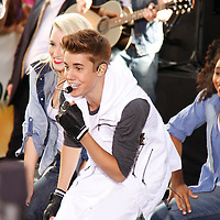 Justin Bieber performing on the plaza at Rockefeller center on June 15, 2012 on The Today Show.