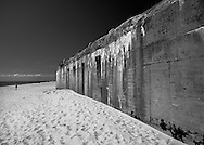 World War II bunker on the beach in Cape May, New Jersey.