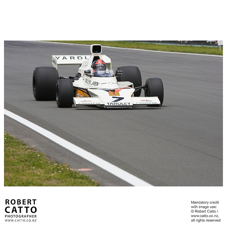 Emerson Fittipaldi at the A1 Grand Prix of New Zealand at the Taupo Motorsport Park, Taupo, New Zealand.