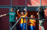AMSTERDAM - COPYRIGHT ROBIN UTRECHT Jelle van Gorkom, Dafne Schippers (NED) en Nouchka Fontijn (r) <br /> 23-08-2016 ALGEMEEN: HULDIGING THUISKOMST TEAMNL: AMSTERDAM RAI