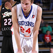 Delaware 87ers Forward Joonas Caven (24) seen on the floor in the second half of a NBA D-league regular season basketball game between the Delaware 87ers and the Erie BayHawk (Orlando Magic) Friday, Mar. 20, 2015 at The Bob Carpenter Sports Convocation Center in Newark, DEL.
