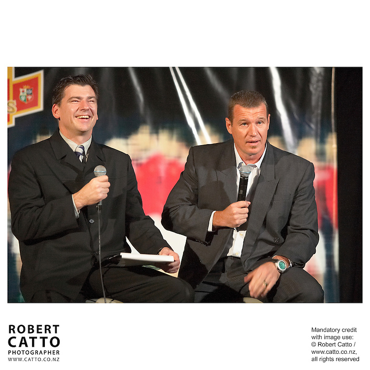 Mark Ferguson;John Kirwan at the British &amp; Irish Lions v. Auckland Blues Match at Eden Park, Auckland, New Zealand.<br />