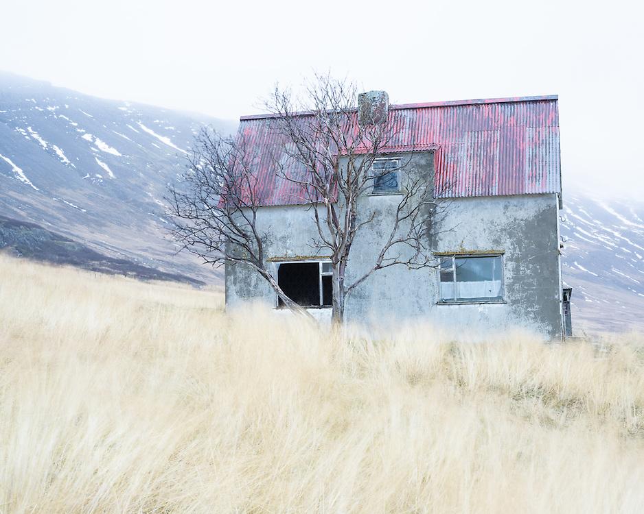 Abandoned house, Skálanesfjall, Iceland