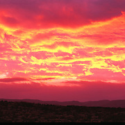 Stunning sunrise in Guadalupe Mountains National Park, TX.