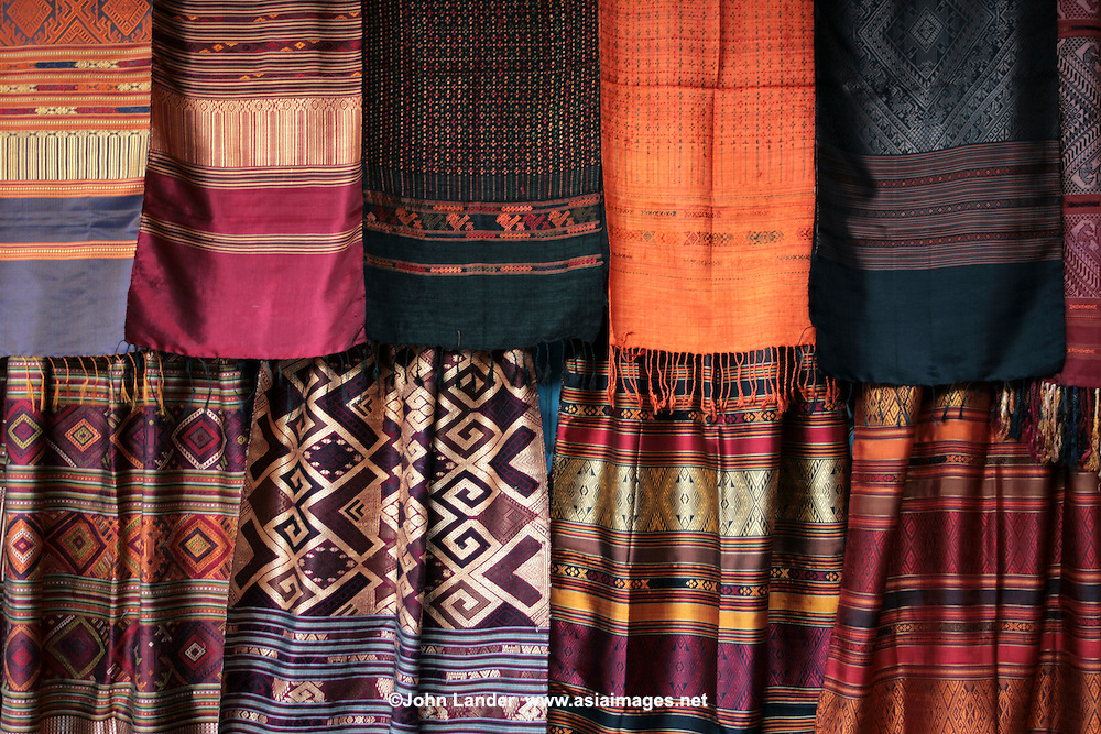 Chiang Mai Sunday Market Thai Silk  John Lander Photography