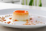 Pana Cota dessert with caramel sugar