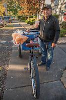 """I come to sell in Calistoga two days a week.""  -Santa Rosa street vendor Alberto Santo on Washington Street in Calistoga"