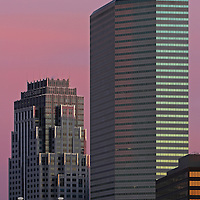Boston State Street architecture photography featuring a couple of iconic skyscrapers which are some of the tallest buildings in Boston. To the left is the beautiful Boston State Street Corporation and to the right is the One Financial Center at Dewey Square featured on a magnificent morning at dawn. This Boston skyline photo is available as museum quality photography prints, canvas prints, acrylic prints or metal prints. Fine art prints may be framed and matted to the individual liking and decorating needs:<br />  <br /> http://juergen-roth.pixels.com/featured/boston-state-street-juergen-roth.html<br /> <br /> All photographs are available for digital and print image licensing at www.RothGalleries.com. Please contact me direct with any questions or request.<br /> <br /> Good light and happy photo making!<br /> <br /> My best,<br /> <br /> Juergen<br /> Prints: http://www.rothgalleries.com<br /> Photo Blog: http://whereintheworldisjuergen.blogspot.com<br /> Twitter: @NatureFineArt<br /> Instagram: https://www.instagram.com/rothgalleries<br /> Facebook: https://www.facebook.com/naturefineart