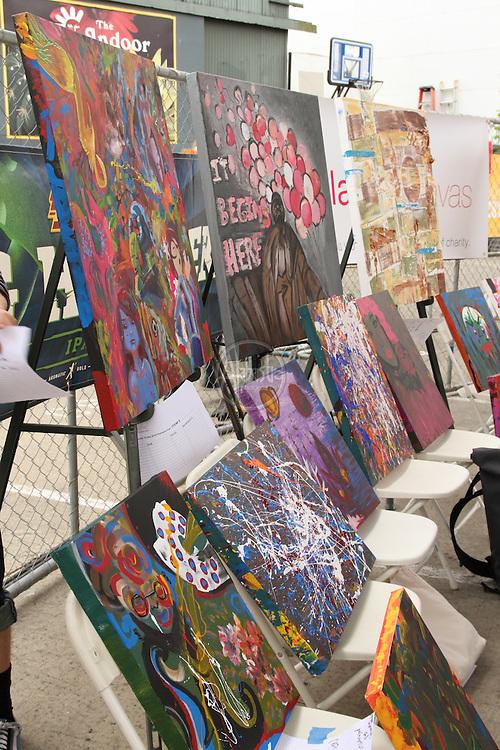 "Blank Canvas ""Art with Heart"" Artist Throwdown at Fremont Fair, June 19, 2010."