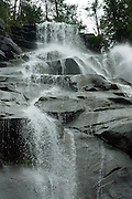 Along Highway 2, waterfalls that pour from the Cascades are easily accessible and beautiful.  Bridal Veil Falls is the reward for an uphill hike near Index along the trail that leads to Lake Serene. (Mark Harrison / The Seattle Times)