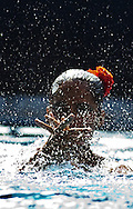 Busto Arsizio (VA) - Italy.CoMeN - Mediterranean Synchronised Swimming cup 2011.The international competition is reserved to athletes 14 years old or younger. 25 nations are taking part to the 2011 edition..Day 02 - Team Free preliminaries.Team Spain ESP.Paola Torres, Paula Ramirez, M.Eugenia Otero, Claudia Gibernau, Maria Campos, Andrea Fuertes, Laura Cabezas, Emilia Luboslalova, Carmen Juarez (R),  Berta Ferreras (R).Photo G.Scala/Deepbluemedia.eu
