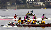 Chiswick, London. ENGLAND, 09.03.2006, Orleans Park, competing in the Invitation, JC4X, turn upstream from Chiswick Eyot, to ready for the race. Schools Head of the River Race Chiswick Bridge to Putney  on Thursday 9th March    © Peter Spurrier/Intersport-images.com.. Schools Head of the River Race. Rowing Course: River Thames, Championship course, Putney to Mortlake 4.25 Miles