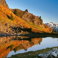 Mt. Shuksan, Fall; Mt. Baker Wilderness Area; North Cascades; WA; Yellow Aster Butte