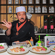 "Chef Kenny Yamada of Hell's Kitchen and Katsuya fame, started his ""Sushi Pop Art"" Series at Royal T with a packed house and have been going on strong, serving his amazing artful and delicious delicious dishes to hungry patrons."