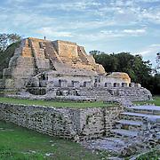 Mayan Site Altun Ha taken at sunset, Belize District, Belize