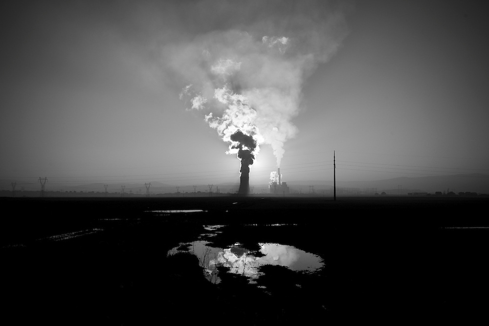 The power plant of KEK just outside Prtistina, Kosovo, on Dec. 01, 2007. Kosovo is victim to frequent power cuts due to energy shortages.