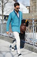 Blue Cardigan, Outside Calvin Klein FW2015