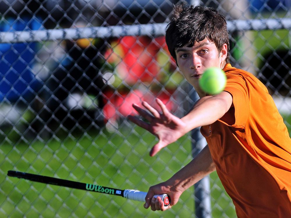 boys state tennis5/sports/jim thompson/ Boys 6A State Tennis championships.  Thursday May. 04, 2017. (Jim Thompson/Albuquerque Journal)
