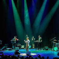 Palestine's biggest pop star, Mohammed Assaf sings at Barbican Centre. Sharply dressed, handsome and with a faultless voice, Mohammed Assaf seems like your typical poster boy pop star, but his story is far from usual. Overcoming incredible odds to get an audition – travelling from the Gaza Strip to Egypt, navigating difficult checkpoints along the way, the boy who grew up in a refugee camp has become an inspiration and figure of unity for the whole of Palestine, and a human face of Gaza for the rest of the world. London, Apr. 10, 2016. (Photos/Ivan Gonzalez)