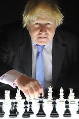 DEC 10 2014 Boris Johnson attends the London Chess Classic