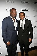"""l to r: Len Barnett and Jeff Tweedy pictured at the cocktail party celebrating Sean """"Diddy"""" Combs appearance on the """" Black on Black """" cover of L'Uomo Vogue's October Music Issue"""