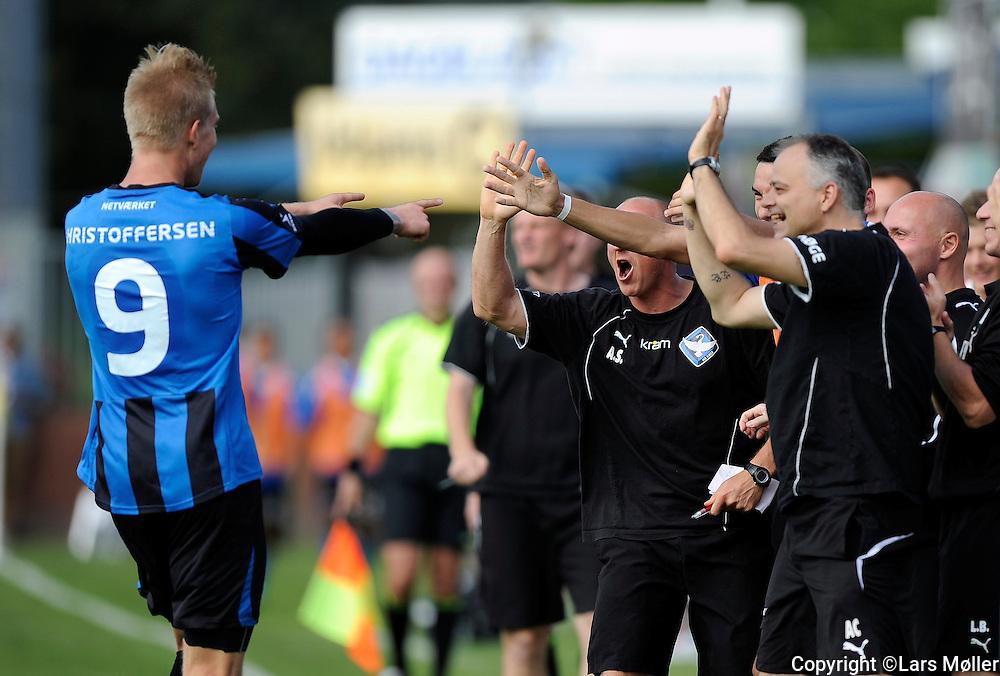 DK Caption:<br /> 20110821, K&oslash;ge, Danmark:<br /> Superliga fodbold, HB K&oslash;ge - Silkeborg:<br /> Simon Makienok Christoffersen, HB K&oslash;ge.<br /> Foto: Lars M&oslash;ller<br /> <br /> UK Caption:<br /> 20110821, Koege, Denmark:<br /> Superleague football  HB Koege - Silkeborg:<br /> Simon Makienok Christoffersen, HB K&oslash;ge.<br /> Photo: Lars Moeller