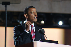 Sen. Barack Obama as he delivers his Democratic Presidential Nominee acceptance speech on Thursday, August 28, the Democratic National Convention, Invesco Field at Mile High Stadium, Denver Colorado.