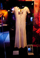 Mick Jagger jumpsuit on display at The Rock and Roll Hall of Fame Annex in New York City..(Photo by Robert Caplin)..