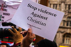 2015-02-07 UK Christian Indians demonstrate against religious discrimination by Modi government