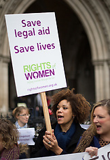 DEC 12 2014 Demonstration by women's rights charities outside the High Court