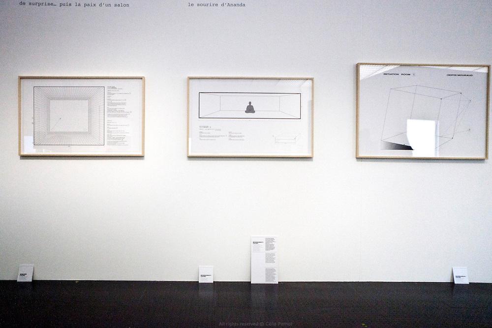 Derniers préparatifs pour la rétrospective de l'artiste Tania Mouraud au Centre Pompidou Metz