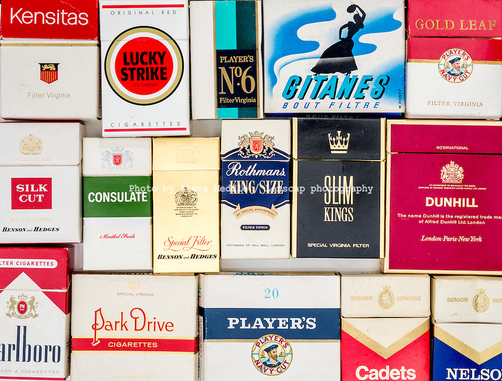 Packets of Various Old Cigarette Boxes - Apr 2016