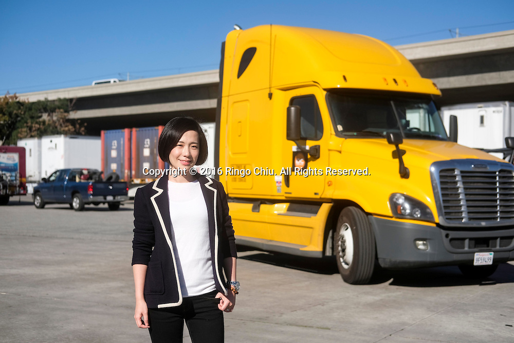 Lidia Yan, CEO of Next Trucking in Lynwood, California.(Photo by Ringo Chiu/PHOTOFORMULA.com)<br /> <br /> Usage Notes: This content is intended for editorial use only. For other uses, additional clearances may be required.