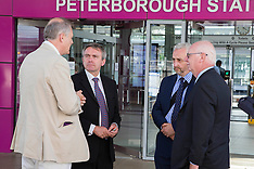 JUL 04 2014 Robert Goodwill arrives in Peterborough