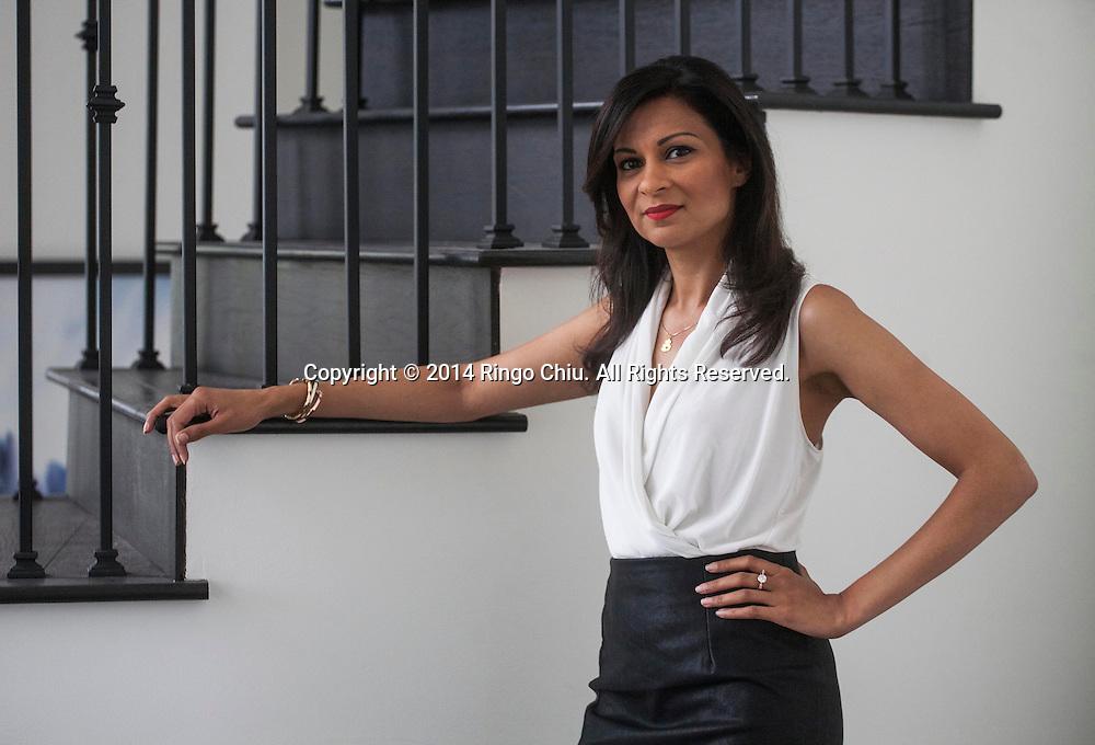 Anjula Acharia-Bath, CEO and Co-Founder of DesiHits.com.<br /> (Photo by Ringo Chiu/PHOTOFORMULA.com)