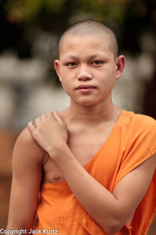 Mar. 13, 2009 -- LUANG PRABANG, LAOS:  A Buddhist monk in Luang Prabang, Laos.  Photo by Jack Kurtz