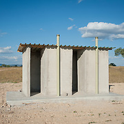 CAPTION: New toilets that were recently built in the fields as part of the Bindagombe Irrigation Scheme. LOCATION: Mawoneke Village, Chivi District, Masvingo Province, Zimbabwe. INDIVIDUAL(S) PHOTOGRAPHED: N/A.