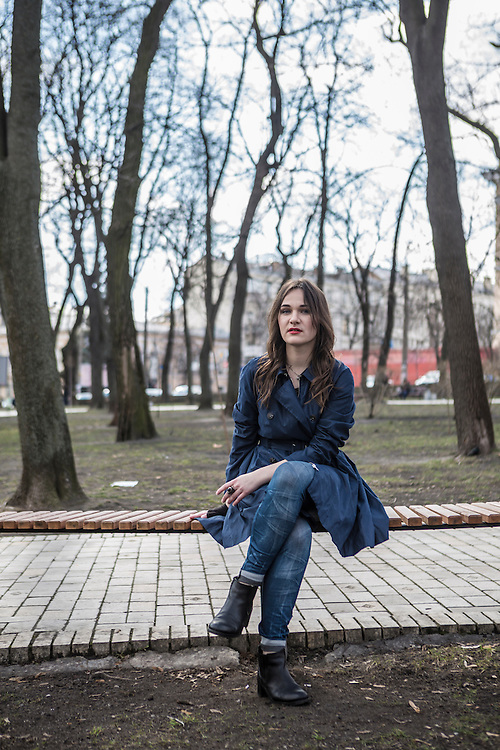 Margo Gontar, founder of StopFake.org, poses for a portrait on Wednesday, March 30, 2016 in Kyiv, Ukraine.